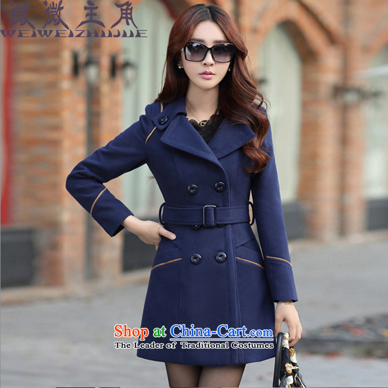 The caddy protagonists gross? female 2015 Autumn jacket for women for winter new Korean Sau San double-coats women 9600 gross? Navy�   XXL