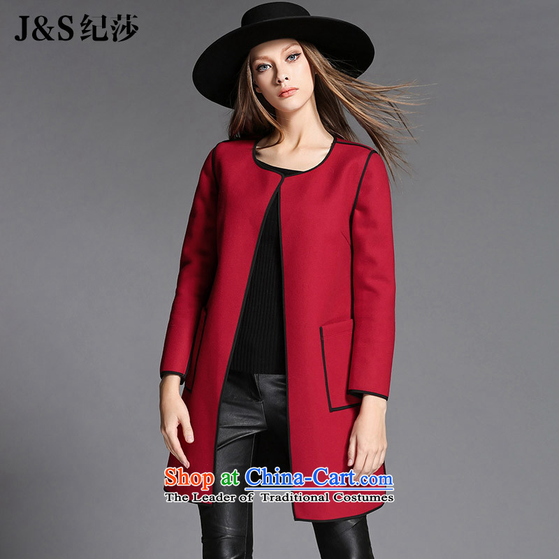 The new 2015 Elizabeth discipline in Europe to increase women's code 200 catties thick sister Winter Sweater? _ loose video jacket thin a wool coat ZR2168- female red 5XL