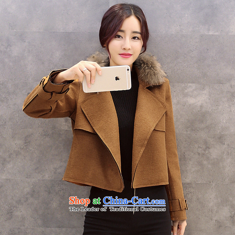 Sin has聽2015 winter clothing new Korean citizenry video thin stylish and simple gross and female color jacket?聽  M