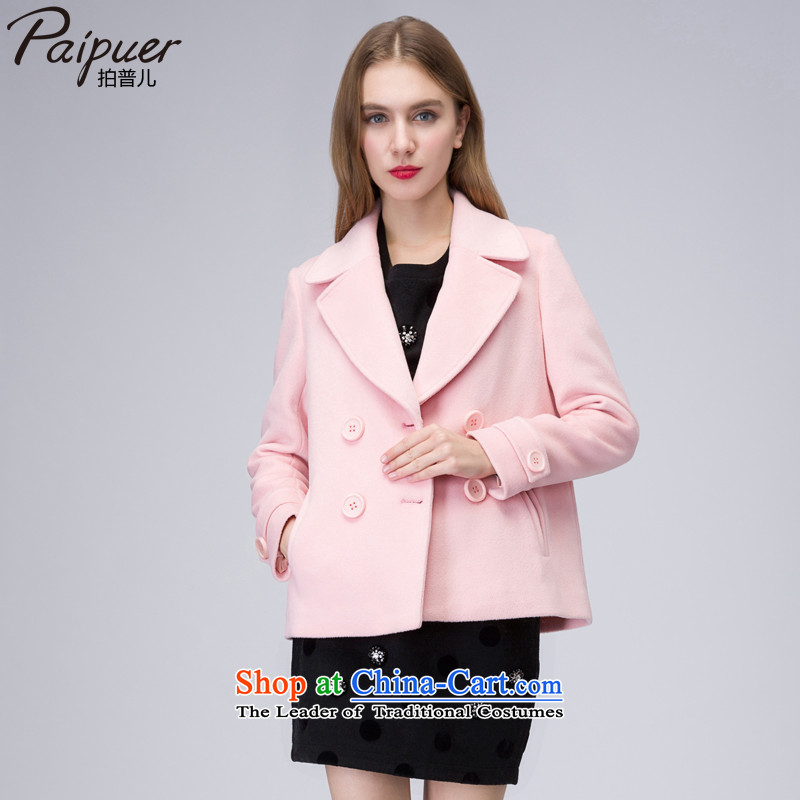 The concept of the new 2015 winter-Women's gross short coats temperament smaller? Heung-wool double-pink jacket?S