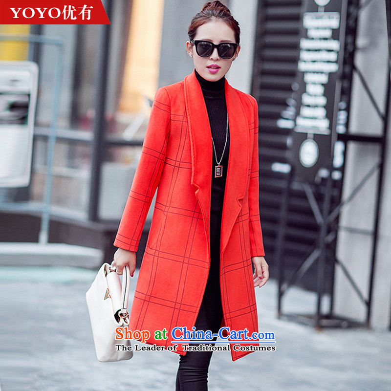 The YOYO optimized with the new Europe and the 2015 autumn atmosphere suits for gross V1654 jacket? orange燣