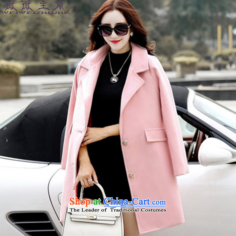 The caddy by 2015 Fall_Winter Collections protagonists new gross? female Korean coats Wild Women 715 pink jacket?�   M