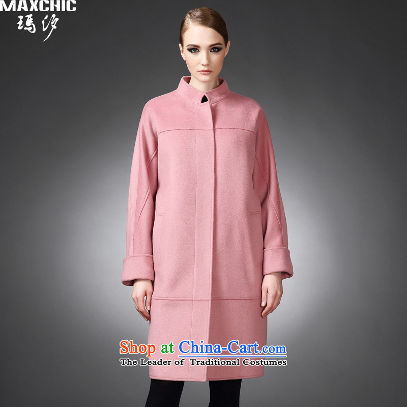 2015 winter Princess Hsichih maxchic western style Lok rotator cuff ramp-bag long-wool coat is the auricle of the girl 21742 pink燤