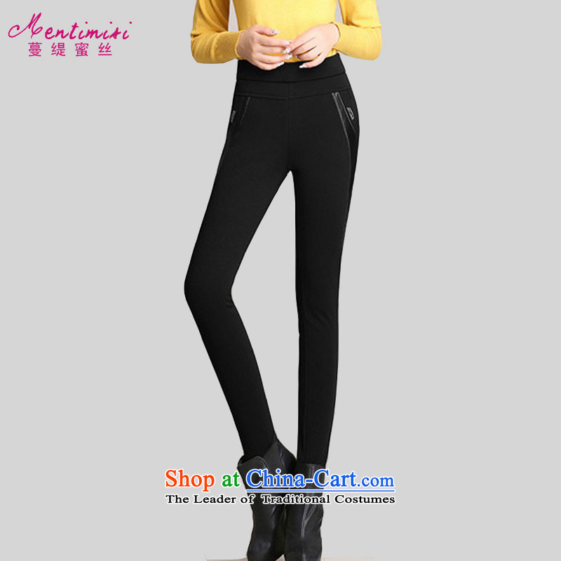 Overgrown Tomb economy honey population to increase women's code for winter castor trousers new thick sister 2015 plus lint-free warm Sau San video thin thick long pants8510black velvet4XLrecommendations 165-180 plus catty