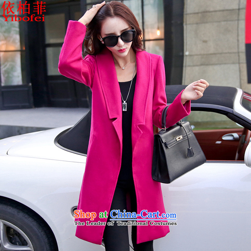 In accordance with the perfect hair? 2015 autumn and winter coats female new Korean large Sau San video in thin long coats Y2615 plus fluff? The lint-free燲XXL aubergine