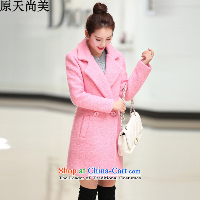 The original days Sang-mi?autumn and winter 2015 new gross?   in long coats, sub-coats_? female?JT1FB612-8818?pink?L