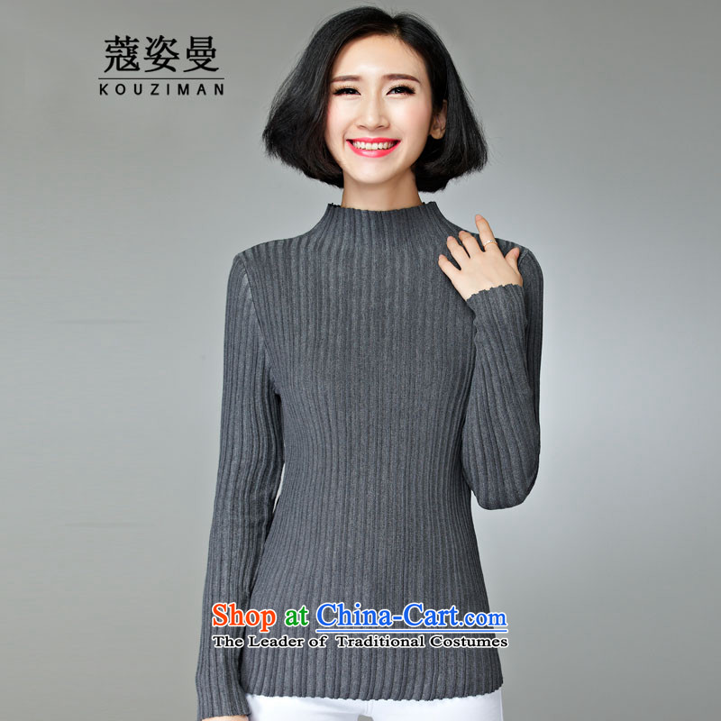 Gigi Lai Man who focused on this tour include Courtney Cox video thin,2015 Fall/Winter Collections new larger women's sister MM thick to wear the shirt xl female long-sleeved sweater gray4XL160-185 through