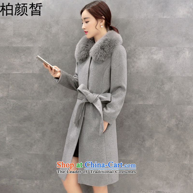 Park Seok-ngan 2015 Winter Female new Korean version? long in cultivating the coats of detained women YS6535 gross? coats picture color燣