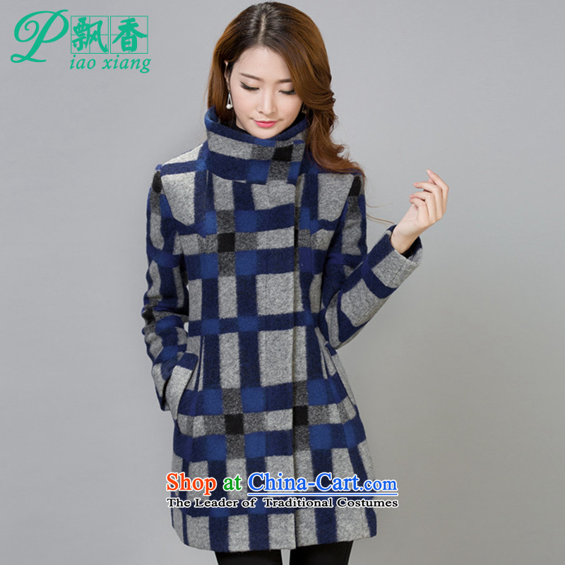 Scented Winter 2015 new stylish and elegant gross?   jacket female V1735 latticed picture color XL