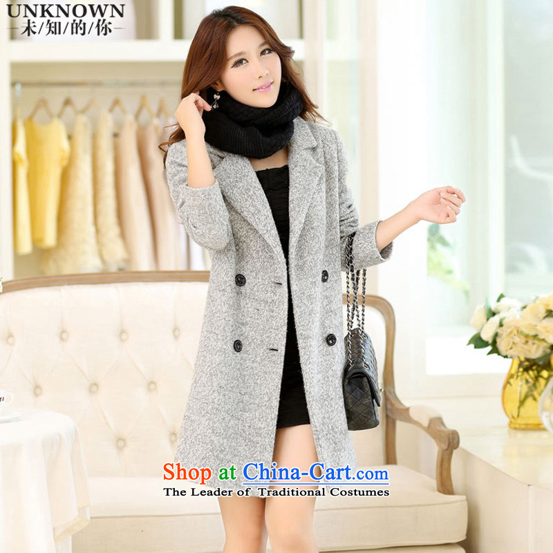 Unknown you? In gross coats of聽autumn and winter 2015 new women's Korea version for a gross Sau San jacket聽W1030 female聽Gray _ M_