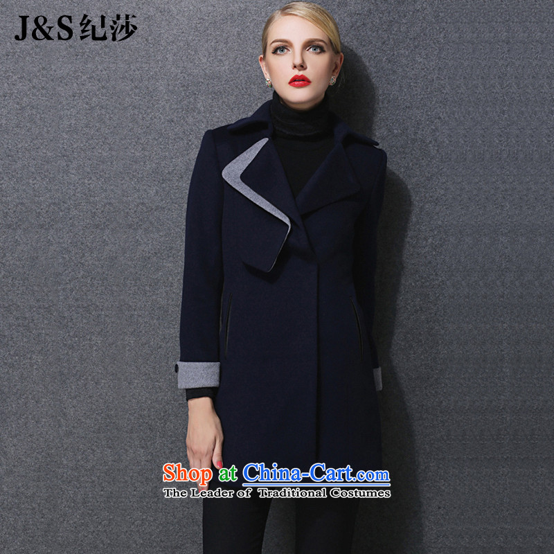 Elizabeth Western style expertise discipline sister extra women 200 catties winter 2015 new expertise in mm long, thin hair so Sau San video jacket ZR1581- 3XL blue ink