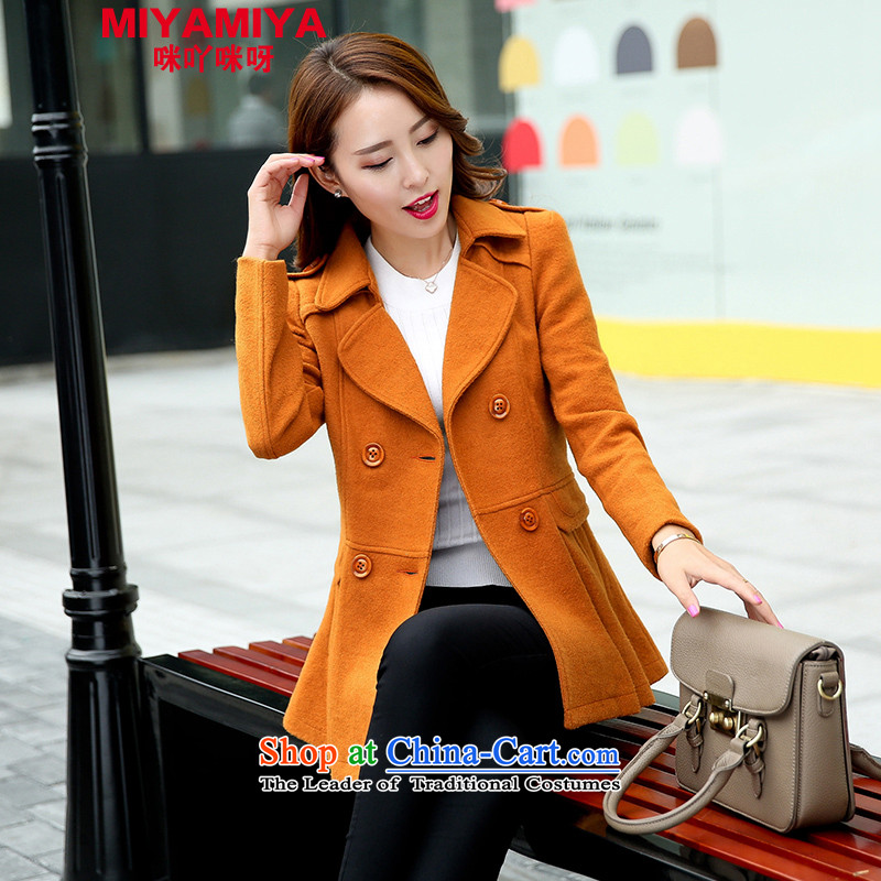 The Korean version of the Sau San MIYAMIYA lapel woolen coat stylish double-coats female jacket? the new earth Ho Kim L