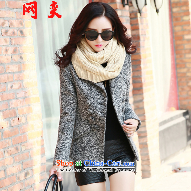 Strong Women's wing in the length of the new 2015, Sau San Mao jacket coat femaleLMYRA26?Light GrayM