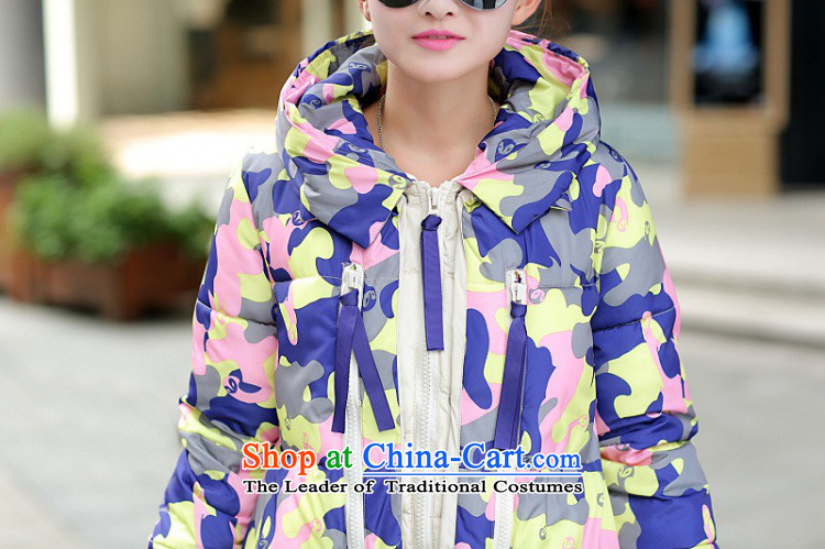 2015 winter clothing new Korean version of large numbers of ladies thick MM loose, Hin thin, thick cotton-thick sister in long thick winter Korea cotton coat down jacketXXXL map color pictures, prices, brand platters! The elections are supplied in the national character of distribution, so action, buy now enjoy more preferential! As soon as possible.