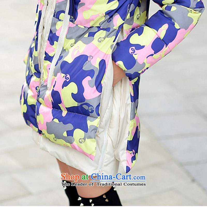 2015 winter clothing new Korean version of large numbers of ladies thick MM loose, Hin thin, thick cotton-thick sister in long thick winter Korea cotton coat down jacketfor the map color XXXL, line (LINXCR tide) , , , shopping on the Internet
