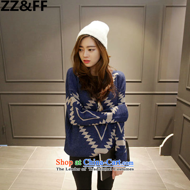 2015 Autumn and winter king Zz_ff Code women thick MM200 catty loose thick Wool Sweater Knit-forming the picture color聽XXXXL Shirt