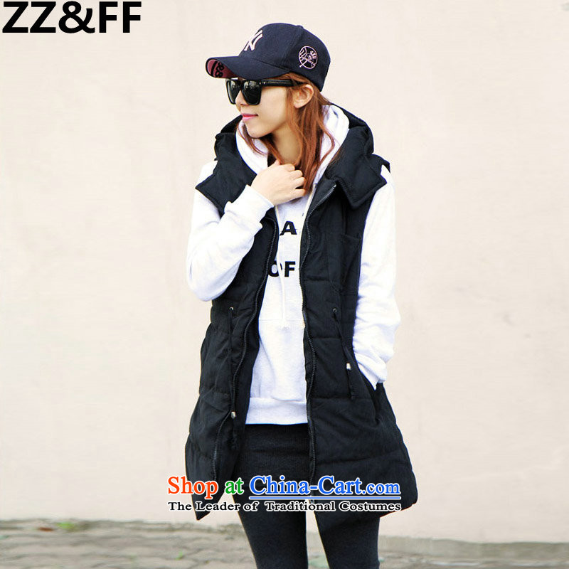 Thick MM200 ZZ_FF catty winter 2015 to increase the number of women with cap leisure. long thick black vestXXXXXL ÃÞÒÂ