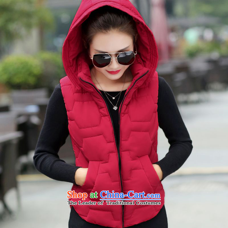 The Doi to increase women's code thick mm autumn and winter version won thin cotton vest jacket, Ma folder female autumn and winter coats female black4XL
