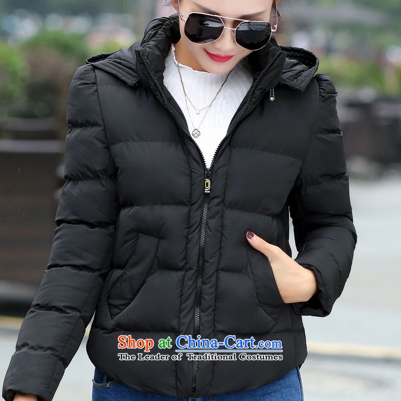 The Doi plus hypertrophy code women thick winter coats cotton MM 2015 new thick sister warm cotton coat 200 catties female black聽4XL