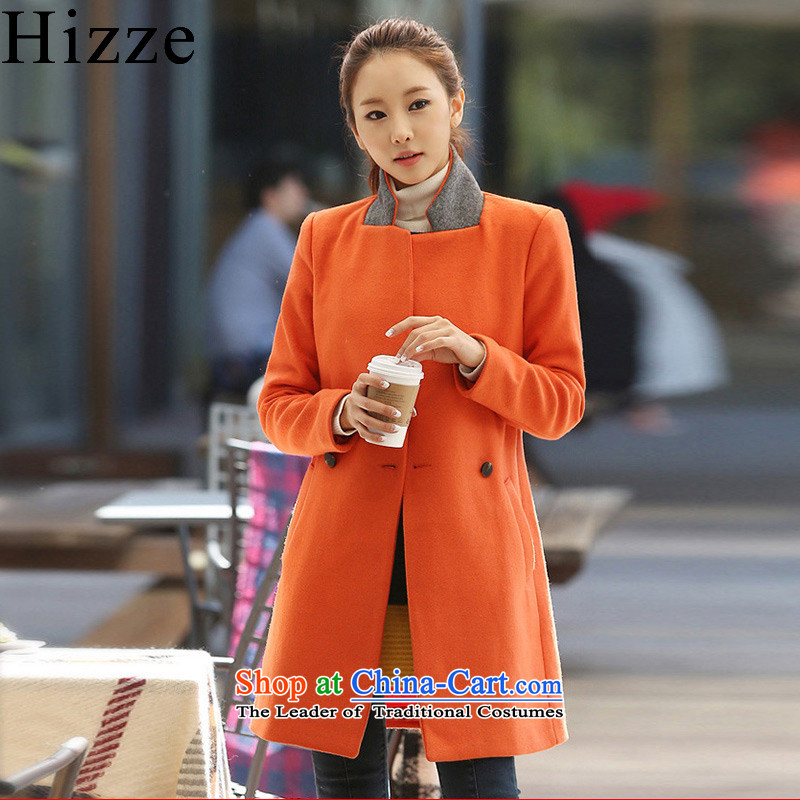 Gross? female jacket hizze Korean version of the long winter 2015 New Product Video thin a large number of women have been instrumental in replacing windbreaker jacket coat 7586 gross? orange燣