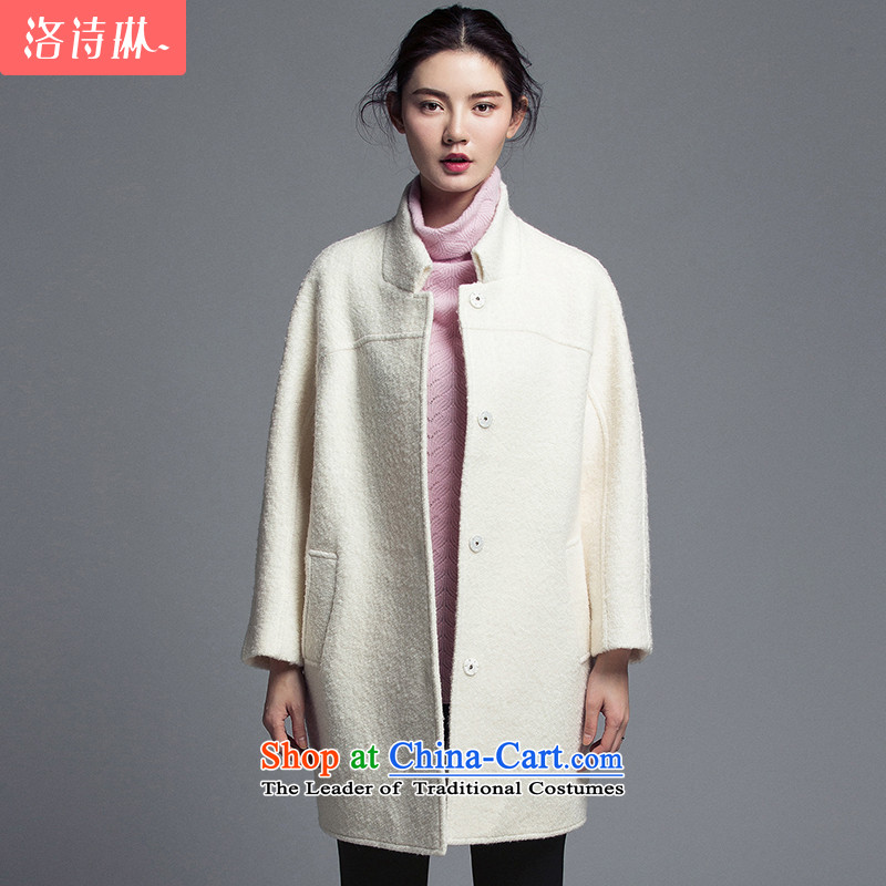 The poem Lin�15 LUXLEAD autumn and winter in the new liberal long hair? jacket female sunshine white燬