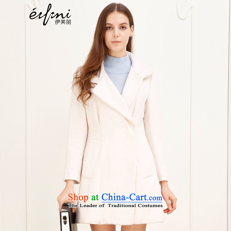 The elections as soon as possible of the Shang Xin Li 2015 winter new Korean lapel temperament video thin coat of Sau San?? female gross 141023171341 coats rice White燲L