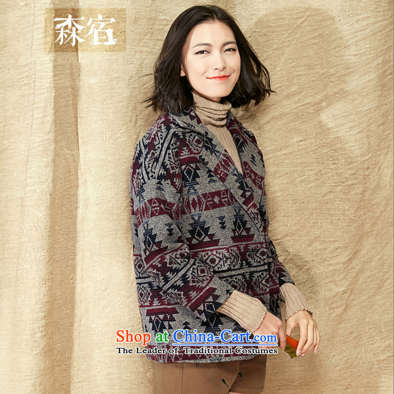 Sum of fried chicken and accommodation fried fish爊ew 2015 winter clothing retro cotton lining winter coats? female gross�42744爄n red and gray燤