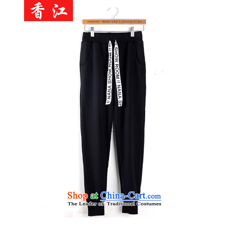 Xiang Jiang autumn and winter, to intensify the code, forming the trousers thick MM outside expertise through sister autumn the lint-free thick loose video thin warm casual pants female winter�2燘lack Large 5XL code
