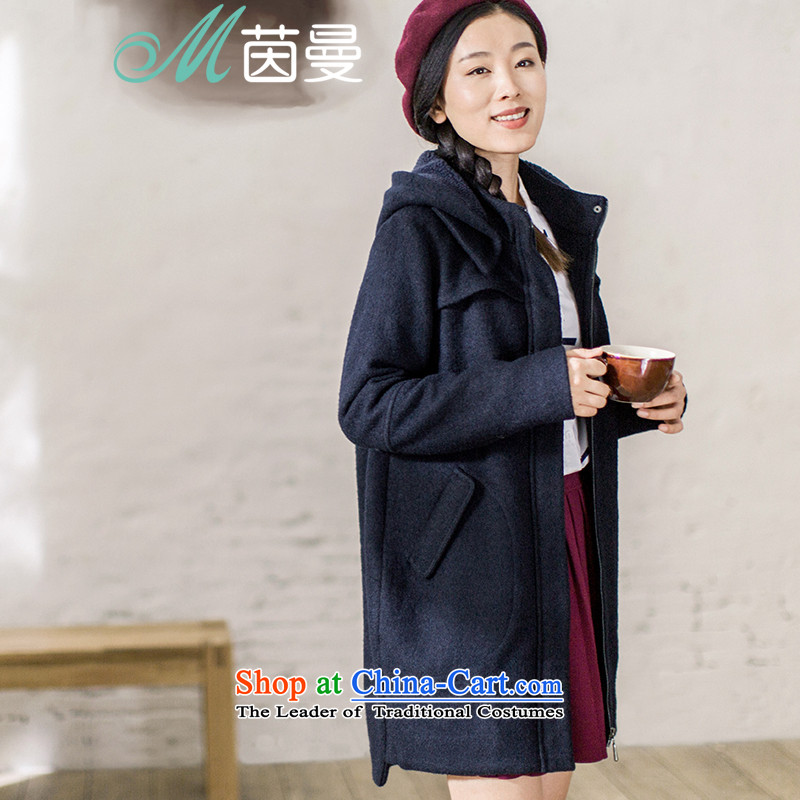 Athena Chu Cayman�15 autumn and winter new minimalist pure color is a long long jacket_?_? _8543210419- Tibet coats QINGLAN燤