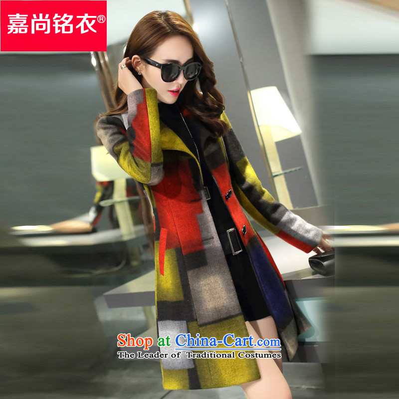 The Honorable Martin Lee Sang-ho yi 2015 autumn and winter new women's fashion, long overcoat so Sau San Mao WT5556 yellow L