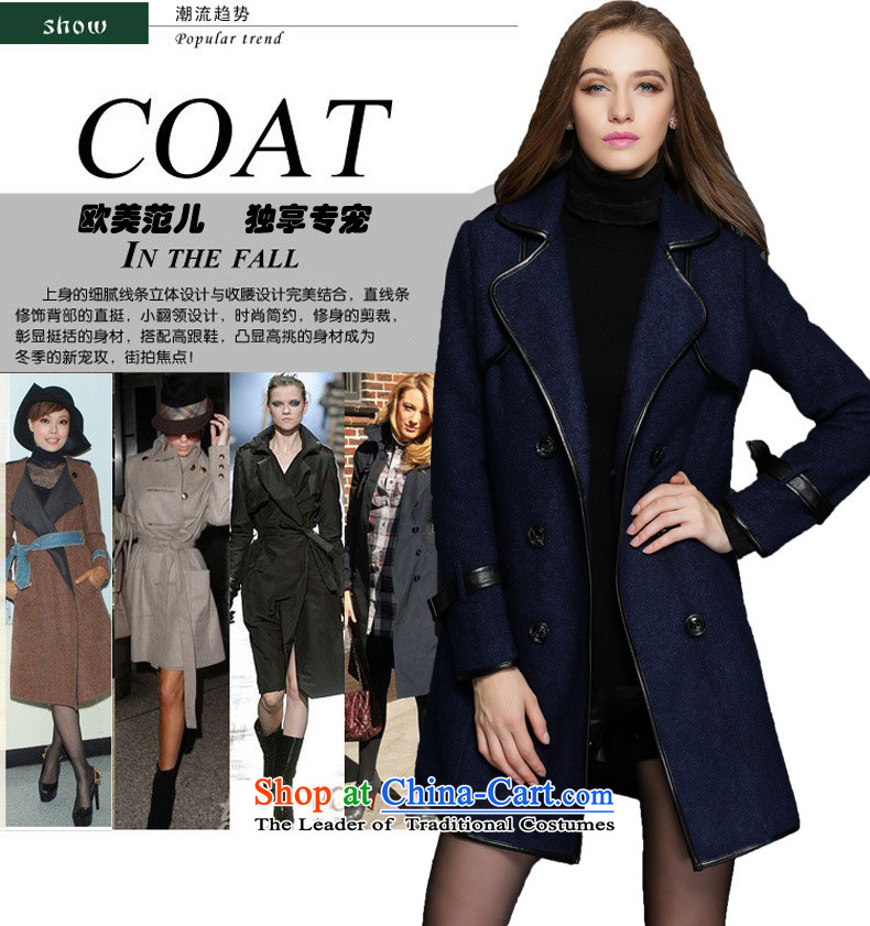 Elizabeth 2015 Western style and discipline for larger female thick sister winter clothing to increase gross female spell leather jacket is thick temperament female聽ZR1551-聽5XL Blue Photo, prices, brand platters! The elections are supplied in the national character of distribution, so action, buy now enjoy more preferential! As soon as possible.