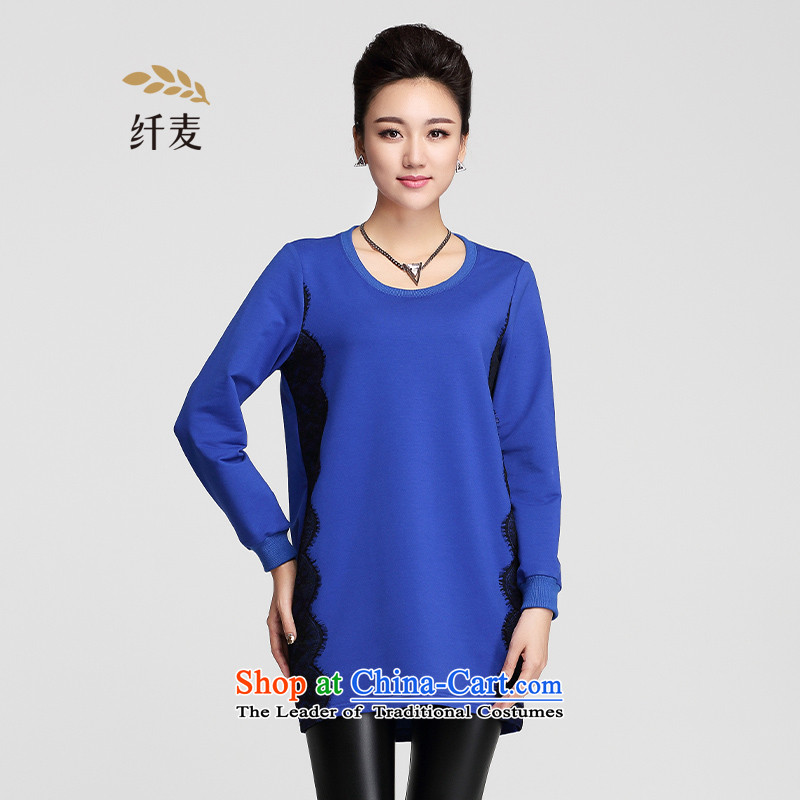 The former Yugoslavia Migdal Code women 2015 winter clothing new stylish mm thick eyelashes lace knocked color display thin 954151628 T-shirt blue�L