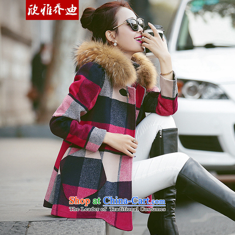 Yan Nga Jodie 2015 winter new Korean short of Sau San cloak? jacket small incense gross style a wool coat female picture color聽L