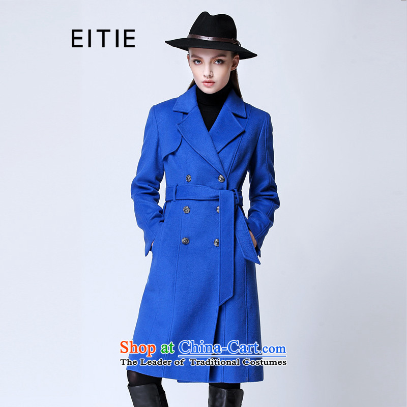 A special love for the Autumn Love EITIE load new temperament elegance. Long hair? overcoat�14567D�? 38_M_160-84A Blue 34