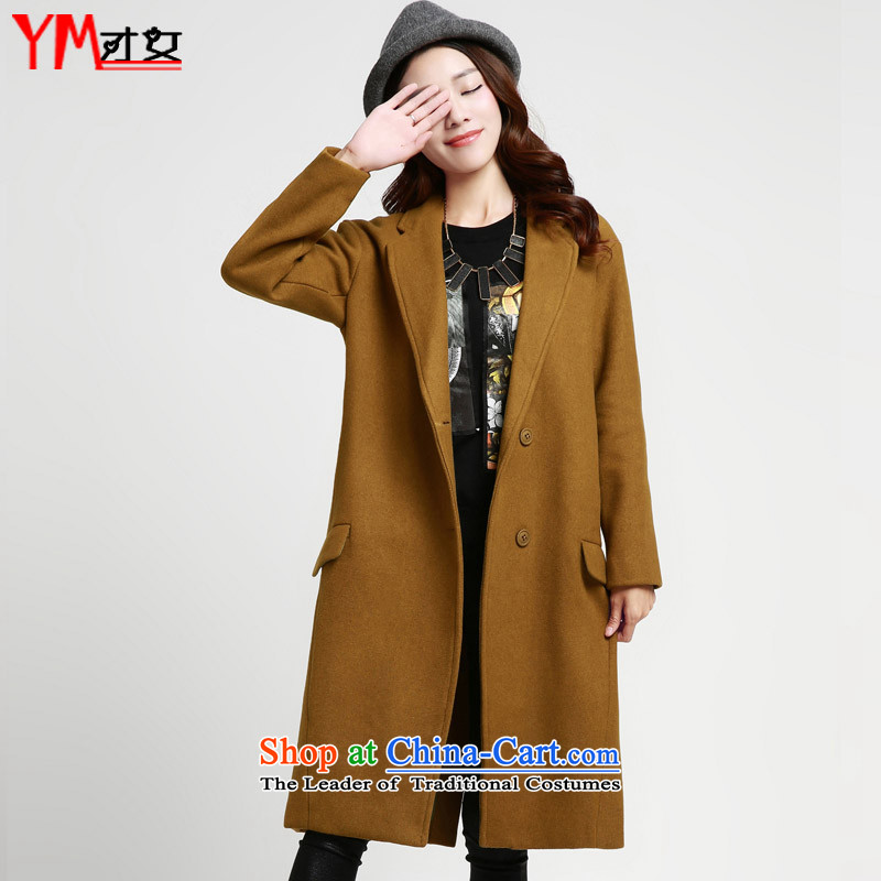 Omi only female autumn and winter female gross jacket coat girl Won? Edition long winter 2015 new women's winter coats on what new matcha color L
