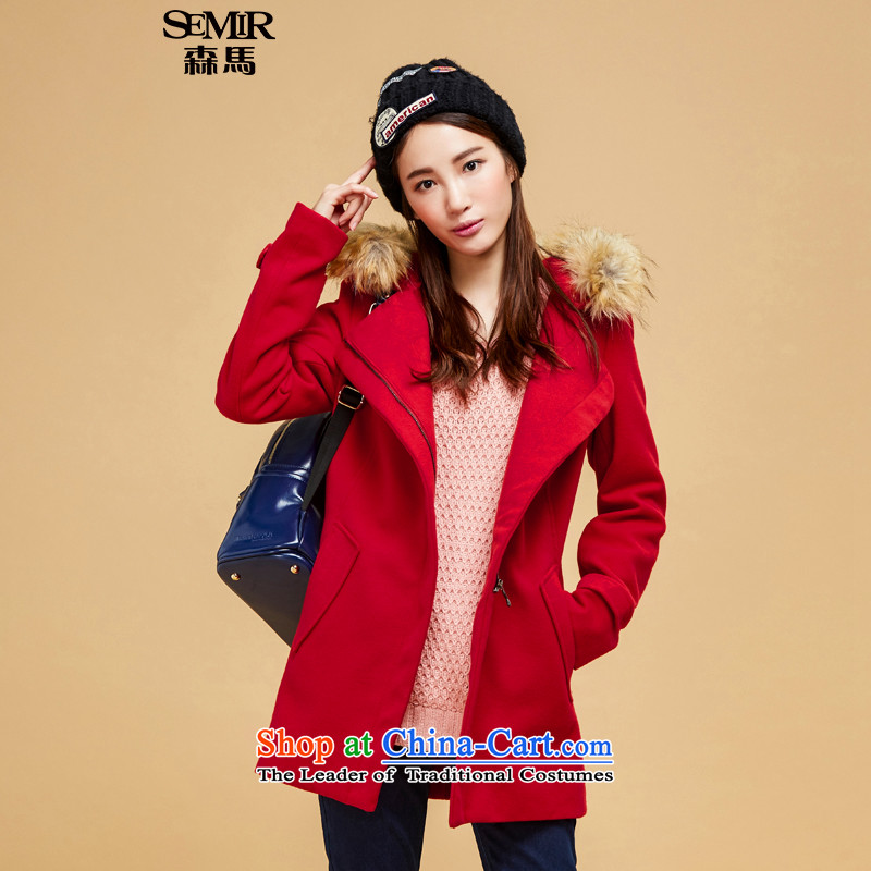 Sum horsehair jackets for爓inter 2015 new president for pure color in the gross long straight leg a wool coat Korean Chinese red _BLAC_ examined 6 601 M