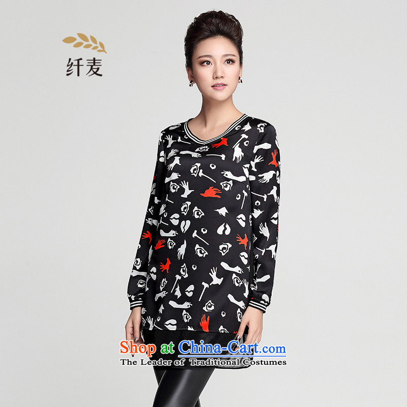 In the former Yugoslavia is indeed intensify code mecca for women 2015 Autumn New_ thick and long long-sleeved sister TEE 953365402�L Suit