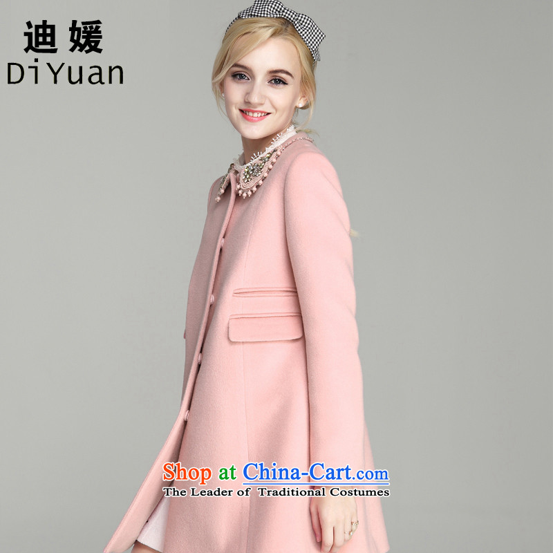 Deere Yuan women on new coats winter? 2015 New Fall_Winter Collections in long Sau San for larger women's gross jacket coat Connie? a wool coat mn41 pink�0_M