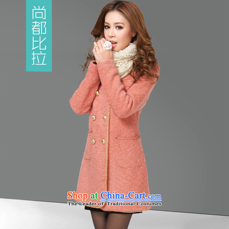 Yet the than long hair? coats female Sau San 2015 new winter coats wool? women wear Korean cashmere overcoat and stylish warm Red shrimpM/160 thin graphics