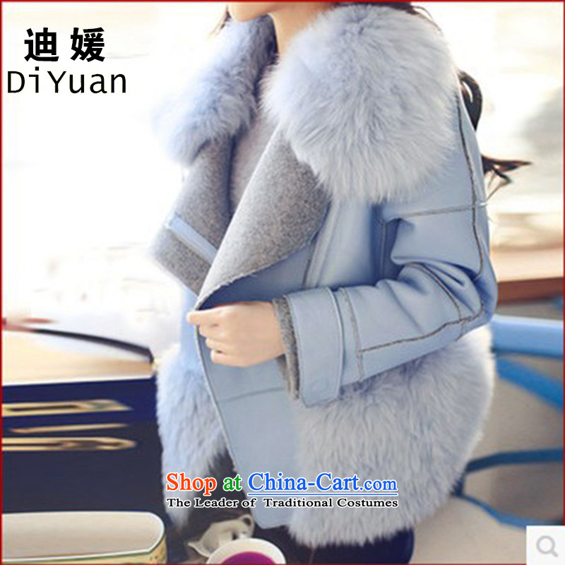 Deere Yuan women on new coats winter? 2015 New Fall/Winter Collections in long Sau San for larger women's gross jacket coat Connie? a wool coat for 35 BlueS gross