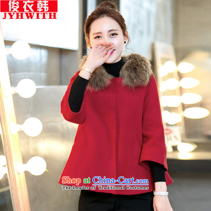 Mr James TIEN Yi Won to xl women 200 catties of winter clothing thick people dress for larger gross Coat new expertise? The children with president cloak jacket gross? thick Tien large Chinese Red4XL 160 to 175 catties can penetrate