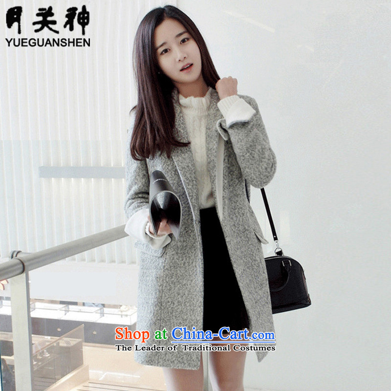On God 2015 autumn and winter New Women Korean jacket Sau San double-coats female beginning 5207 through this gross gray colors聽XL