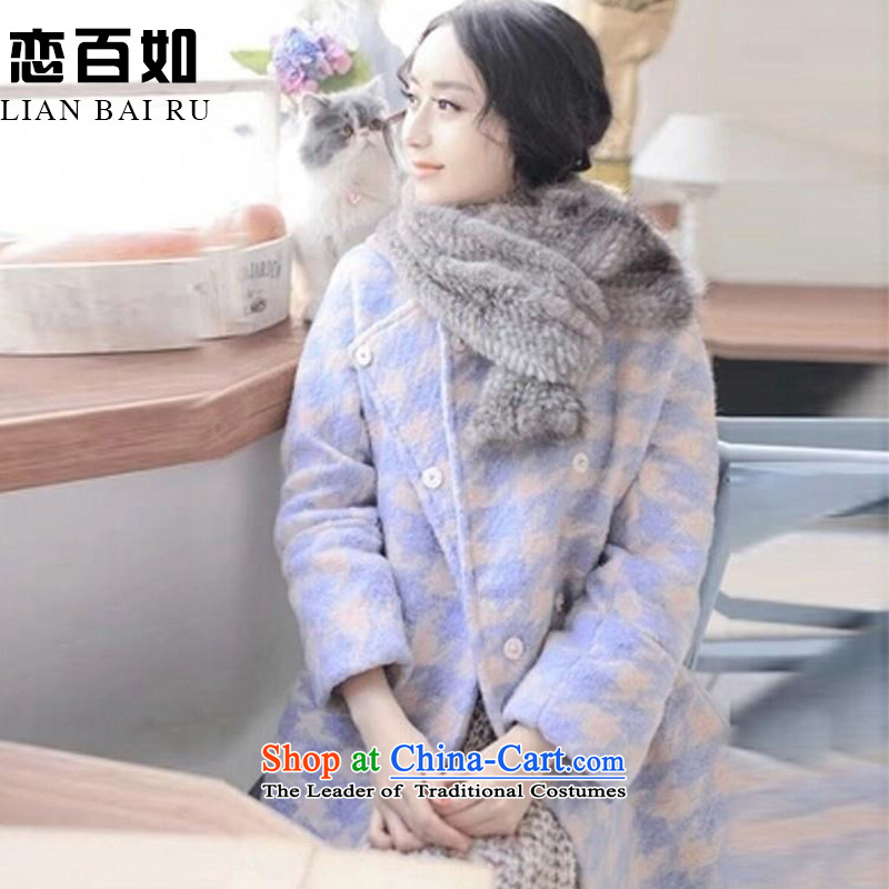The land as women winter hundreds of new coats 2015 NEW? The autumn and winter in long large Sau San Women's gross jacket coat Connie? a wool coat winter_ picture colorM N13