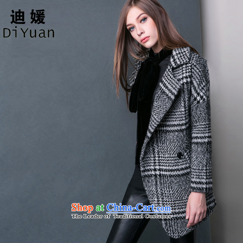 Deere Yuan women on new coats winter? 2015 New Fall/Winter Collections in long Sau San for larger women's gross jacket coat Connie? a wool coat mn09 GrayXL