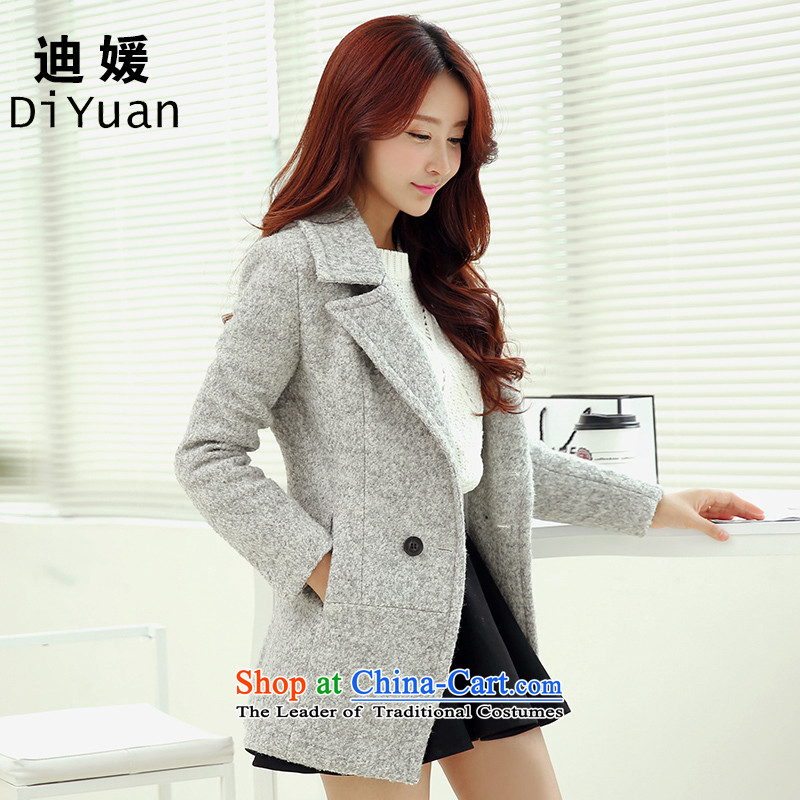 Deere Yuan women on new coats winter? 2015 New Fall/Winter Collections in long Sau San for larger women's gross jacket coat Connie? a wool coat mn08 grayS