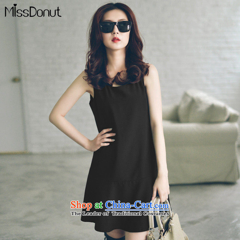 The ad to increase missdonut code women autumn and winter waistcoat skirt Korean sister mm thick large black skirt wear sleeveless shirts large black XL recommendations 130-145 catty