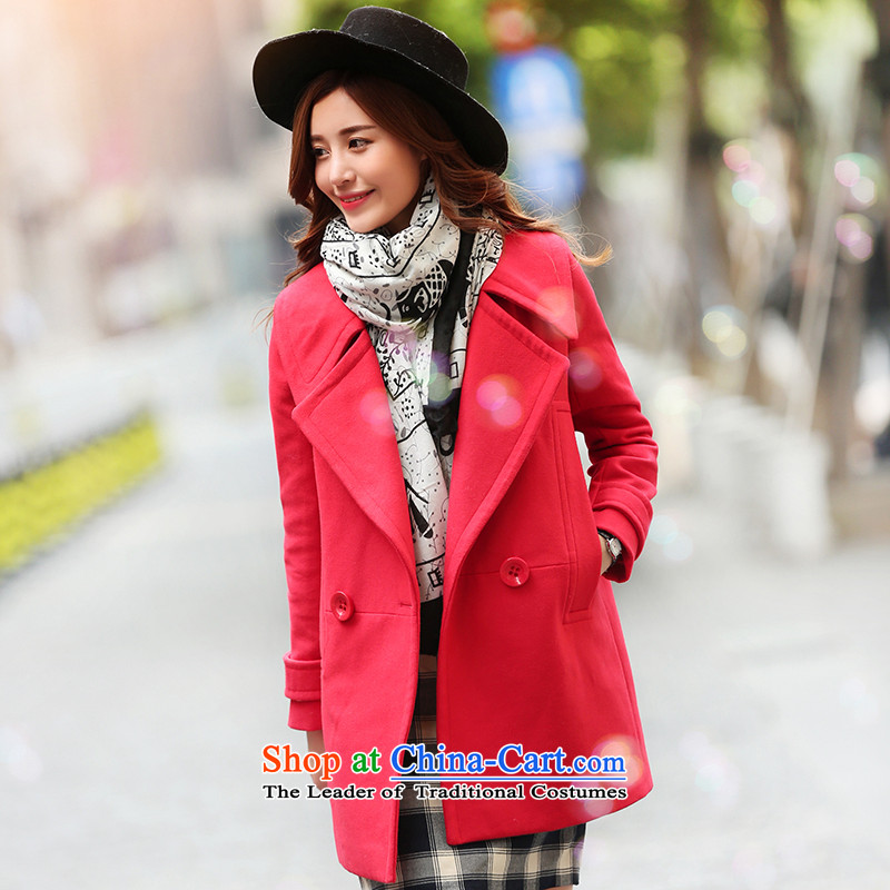 Park woke up to 2015 winter clothing new Korean modern minimalist style and Western business suits female red jacket? gross燤