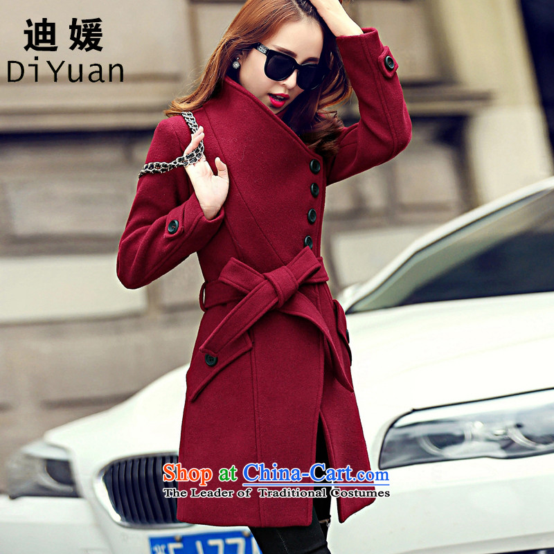 Deere 2015 Korean won a wool coat girl child?? coats female gross jacket in long hair? female winter coats on new 581 BOURDEAUX燤