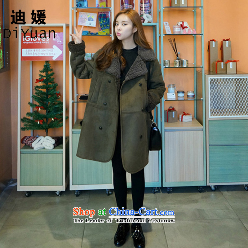 Deere Yuan women on new coats winter? 2015 New Fall_Winter Collections in long Sau San for larger women's gross jacket coat Connie? a wool coat mn41 Army Green燬
