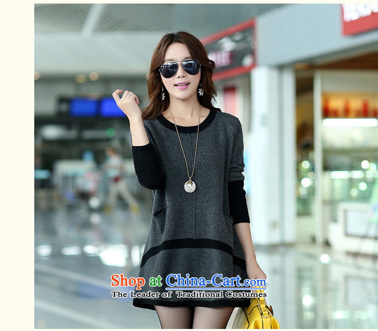Elizabeth sub-2015 autumn and winter new to increase women's code in long thick MM Winter Sweater, forming the sleek and versatile sweater m9156 XXXL Gray Photo, prices, brand platters! The elections are supplied in the national character of distribution, so action, buy now enjoy more preferential! As soon as possible.
